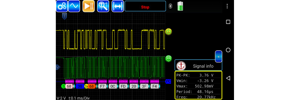 how to make android oscilloscope